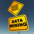 Data mining concept extraction and collection of from surveys newsletters site visitors etc Royalty Free Stock Photo