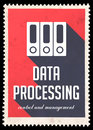 Data Processing on Red in Flat Design. Stock Photo