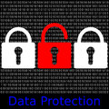 Data protection an abstract illustration Royalty Free Stock Photos