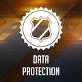 Data Protection Concept on Triangle Background. Stock Photos