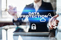 Data protection, Cyber security, information safety. technology business concept Royalty Free Stock Photo