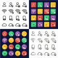 Data Protection & Data Security Icons All in One Icons Black & White Color Flat Design Freehand Set Royalty Free Stock Photo