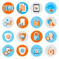 Data Protection Security Icons Royalty Free Stock Photo