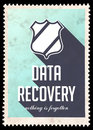 Data Recovery on Blue in Flat Design. Royalty Free Stock Image