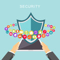 Data security. Antivirus. Data protection. Secure access concept