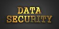 Data security information concept gold text on dark background d render Royalty Free Stock Photography