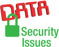 Data security issues secure lock big versus privacy information technology Stock Photography
