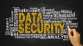 Data security word cloud Royalty Free Stock Photo