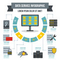 Data service infographic concept, flat style