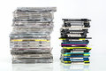 Data storage cds and diskettes on a pile Royalty Free Stock Photography