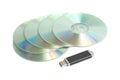 Data storage device cd rom and usb memory stick Stock Photos