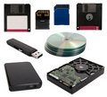 Data storage devices Royalty Free Stock Photo