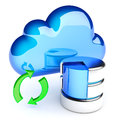 Data synchronization with the cloud storage and icon on white hi res digitally generated image Stock Images