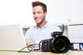 Data transfer from digital camera Royalty Free Stock Images