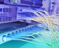 Data transfer by optical fibre Royalty Free Stock Photo