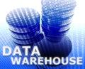 Data warehouse illustration Royalty Free Stock Photo