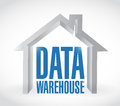 Data warehouse illustration design Royalty Free Stock Photo