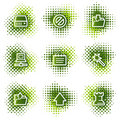 Data web icons Stock Photos