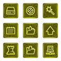 Data web icons, electronics card series Royalty Free Stock Images