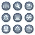 Data web icons, mineral circle buttons series Royalty Free Stock Image