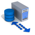 Database application server Stock Image