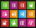 Database crash square metro style icon sets suitable for user interface Royalty Free Stock Photo