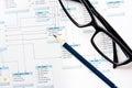 Database design process Royalty Free Stock Photo