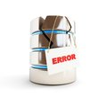 Database error on a white background Royalty Free Stock Images