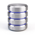 Database icon on white background Royalty Free Stock Photo