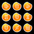 Database icons Stock Photos
