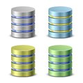 Database icons network backup Stock Photo