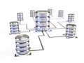 Database networking concept isolated on white Stock Photos