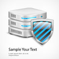 Database protection concept on white vector illustration Royalty Free Stock Images