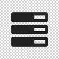 Database, server vector icon. Storage vector illustration Royalty Free Stock Photo