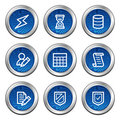 Database web icons Royalty Free Stock Photos