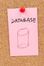 Database word and symbol Royalty Free Stock Photo