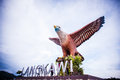 Dataran lang the big eagle statue at langkawi island Royalty Free Stock Photos