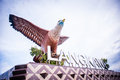 Dataran lang the big eagle statue at langkawi island Stock Photo