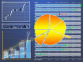 Datasheet currency tender upon finance market Royalty Free Stock Image