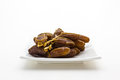 Date palm fruit in the plate Royalty Free Stock Photo