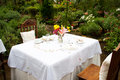 Date venue inside a green house garden Royalty Free Stock Photography