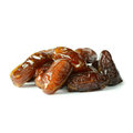 Dates isolated on white background the close up Stock Photo