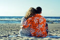 Dating on the beach. Royalty Free Stock Images