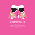 Dating dinner vector illustration concept eps Stock Images
