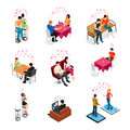 Dating Isolated Isometric Icons