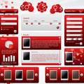 Dating website template for valentine's day Royalty Free Stock Photo