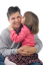 Daughter kissing father Royalty Free Stock Photography