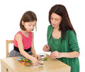 Daughter and mom playing Royalty Free Stock Photo