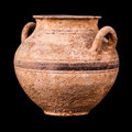 Daunian Double-handle pot Royalty Free Stock Photo