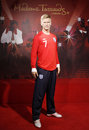 David beckham realistic wax statue in madame tussauds museum in london uk Royalty Free Stock Photos